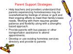 parent support strategies