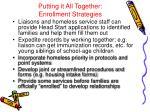 putting it all together enrollment strategies