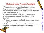 state and local program spotlights