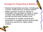 strategies for responding to mobility 2
