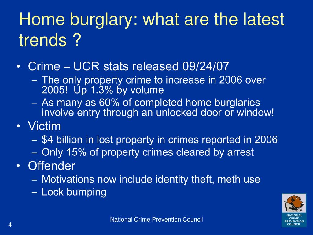Home burglary: what are the latest trends ?