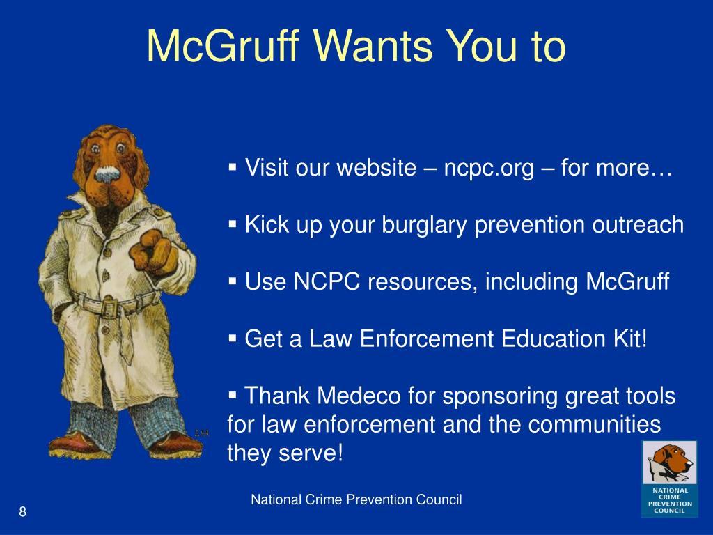 McGruff Wants You to