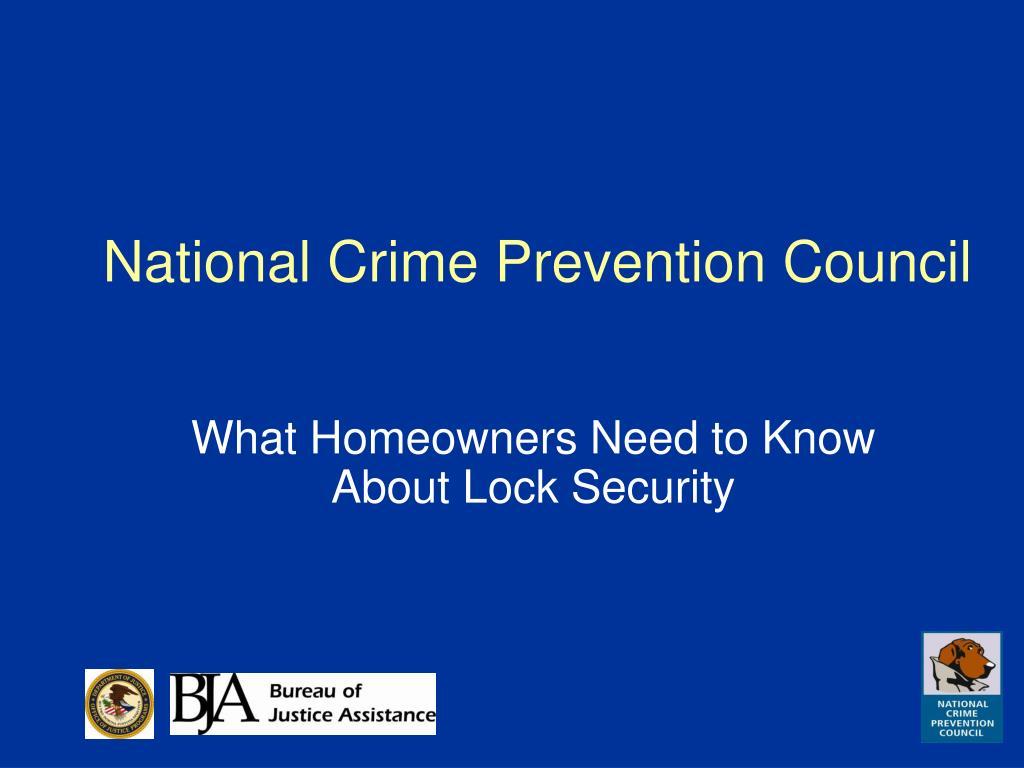 National Crime Prevention Council