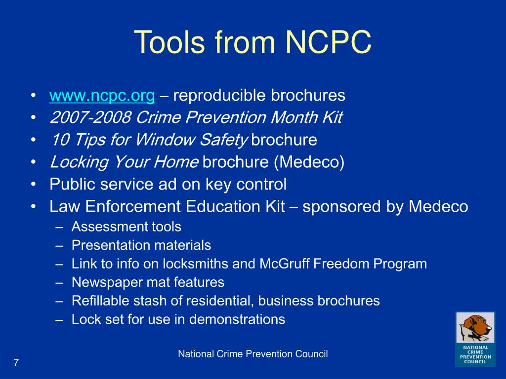 Tools from NCPC