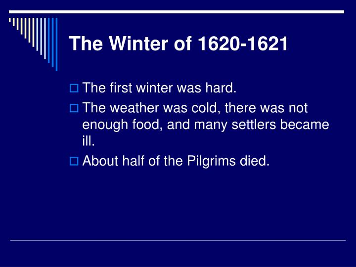 The Winter of 1620-1621