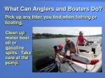 what can anglers and boaters do15