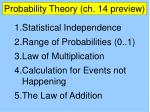 probability theory ch 14 preview