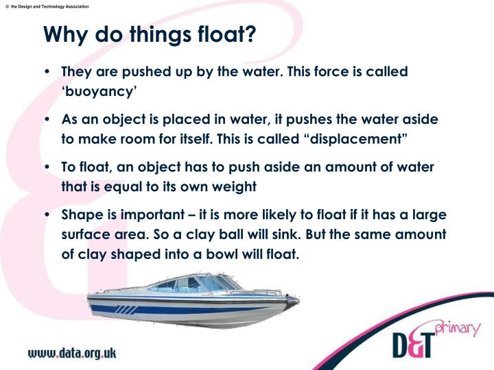 Why do things float