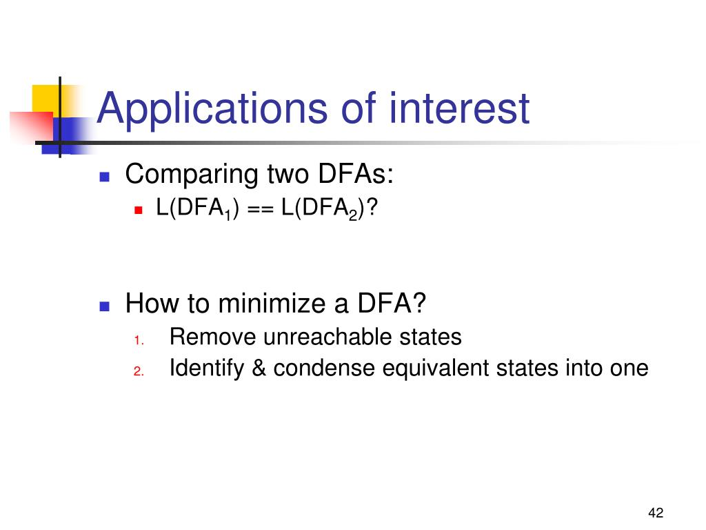 Applications of interest