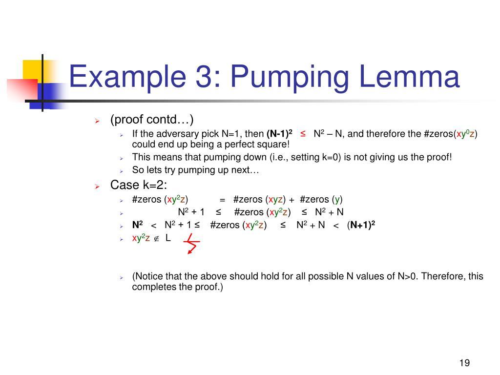 Example 3: Pumping Lemma