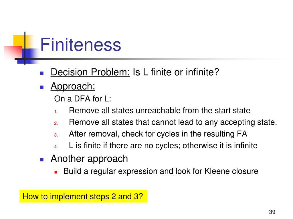 Finiteness