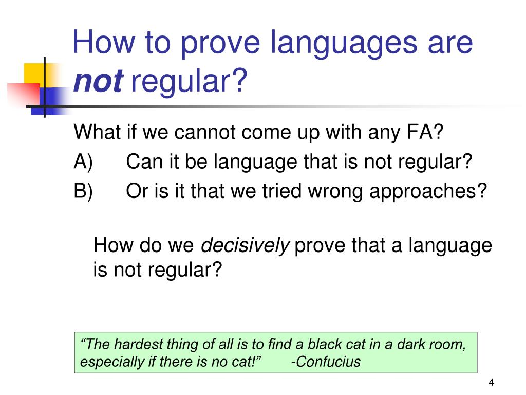 How to prove languages are