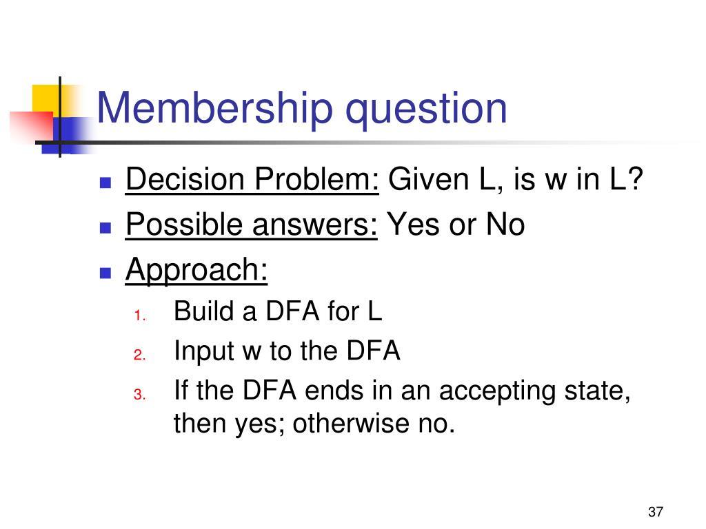 Membership question