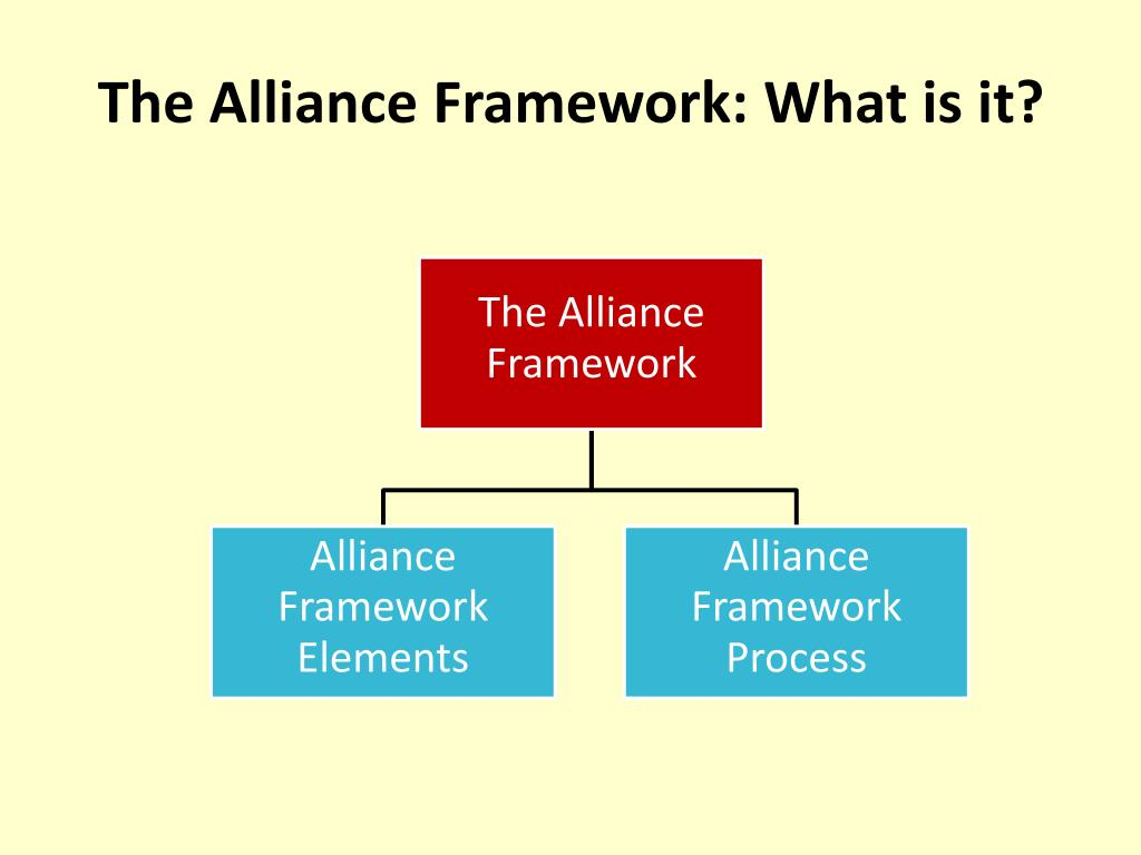The Alliance Framework: What is it?