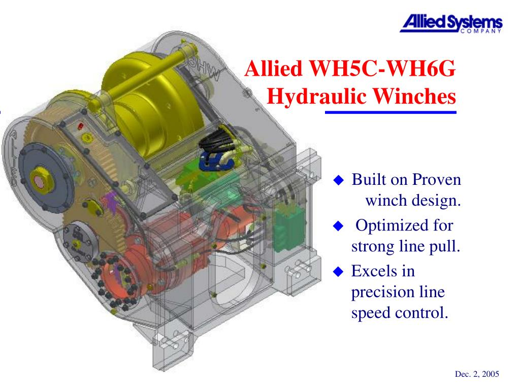 allied wh5c wh6g hydraulic winches l.