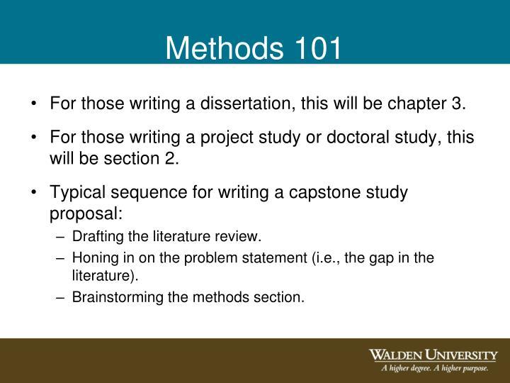 Methods 101