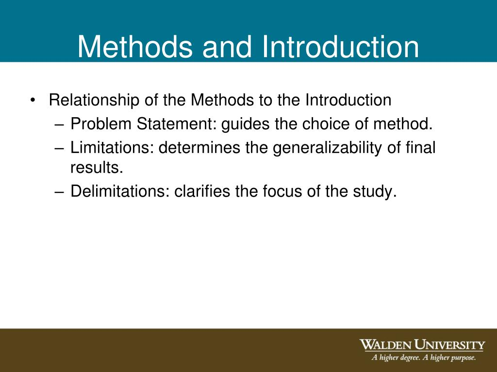 Methods and Introduction