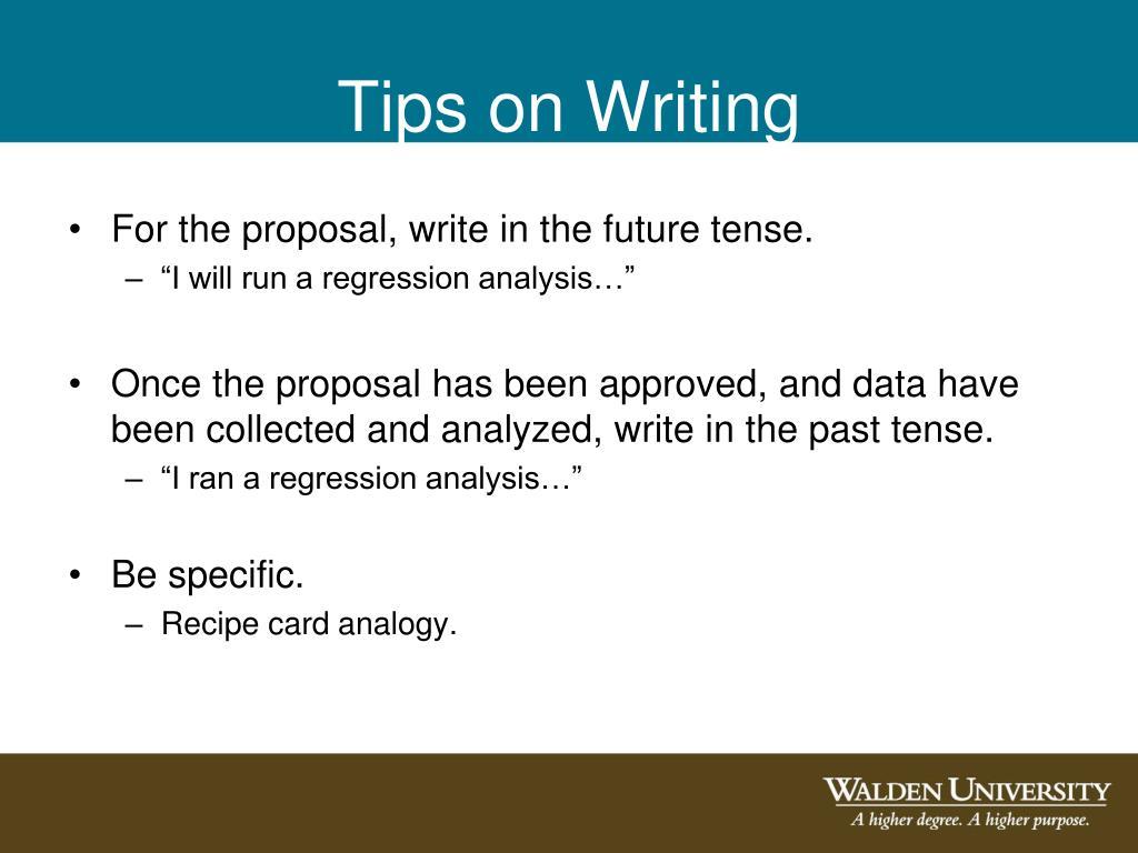 Tips on Writing