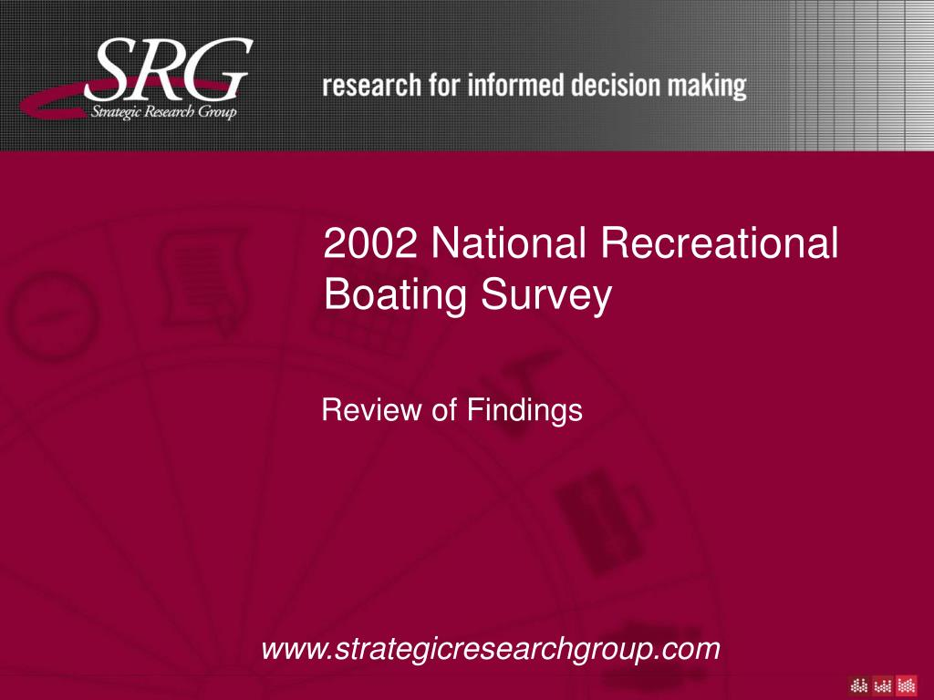 2002 national recreational boating survey l.