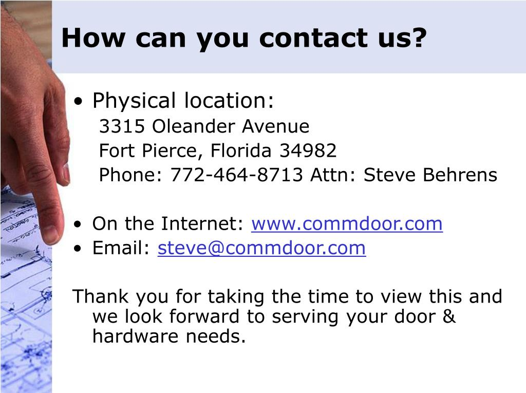 How can you contact us?