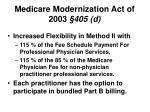medicare modernization act of 2003 405 d