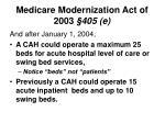 medicare modernization act of 2003 405 e