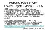 proposed rules for cop federal register march 25 2005