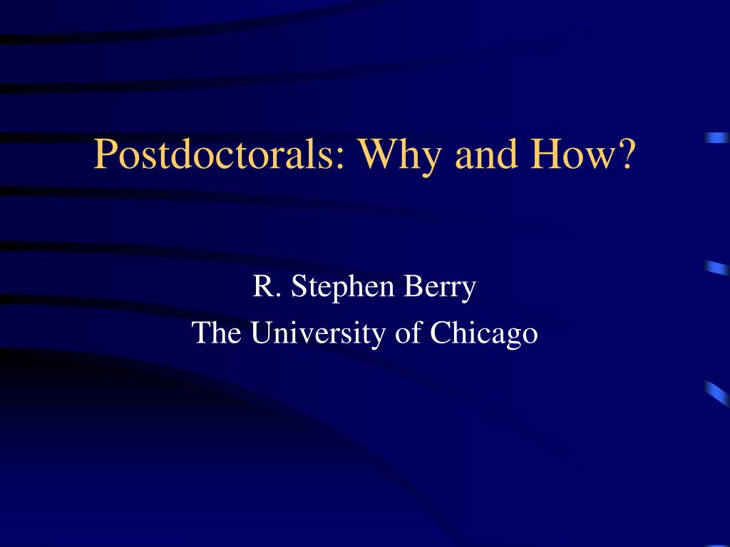 postdoctorals why and how