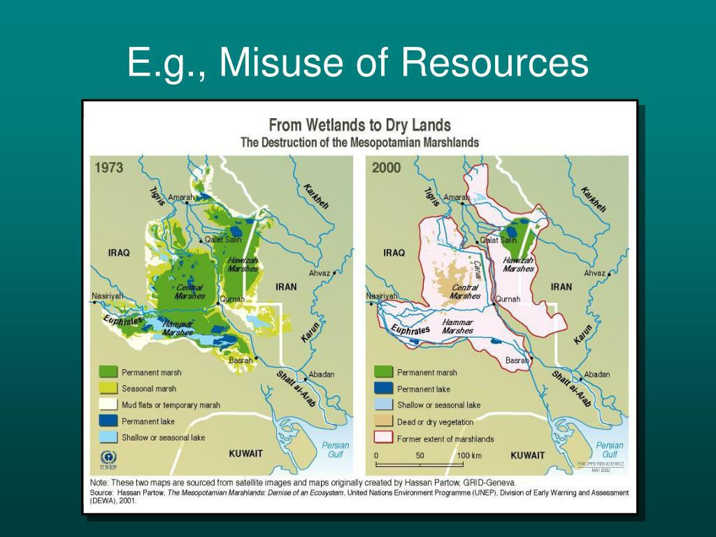 E.g., Misuse of Resources