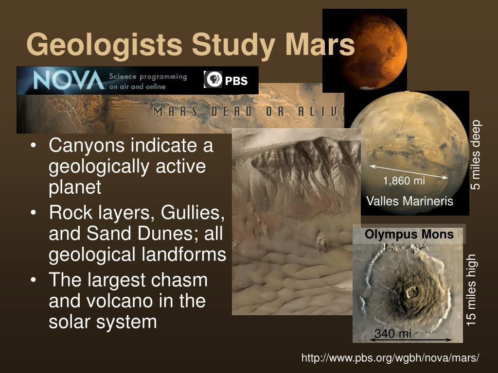 Geologists Study Mars