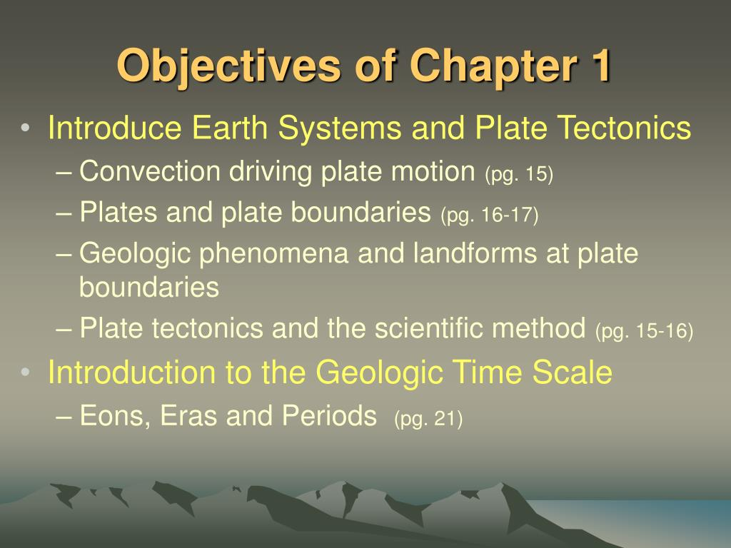 Objectives of Chapter 1