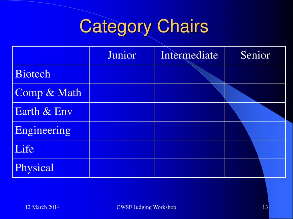 Category Chairs