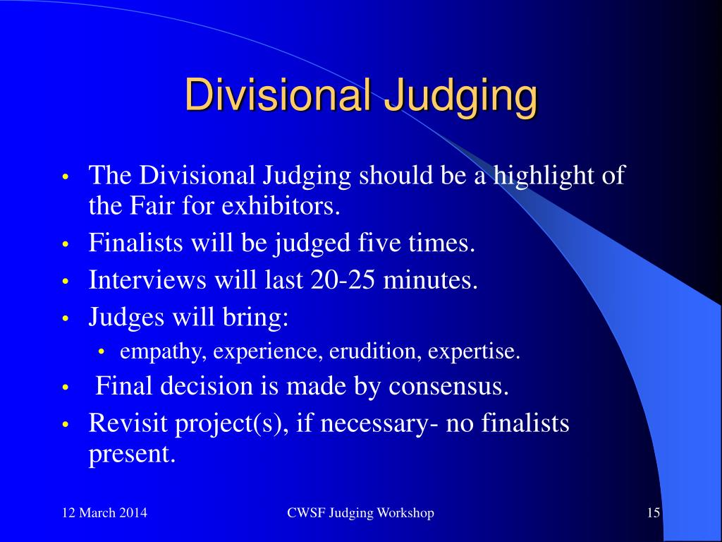 Divisional Judging