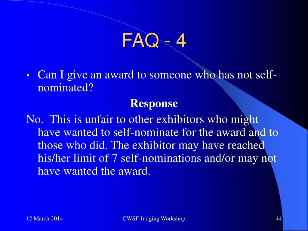 FAQ - 4