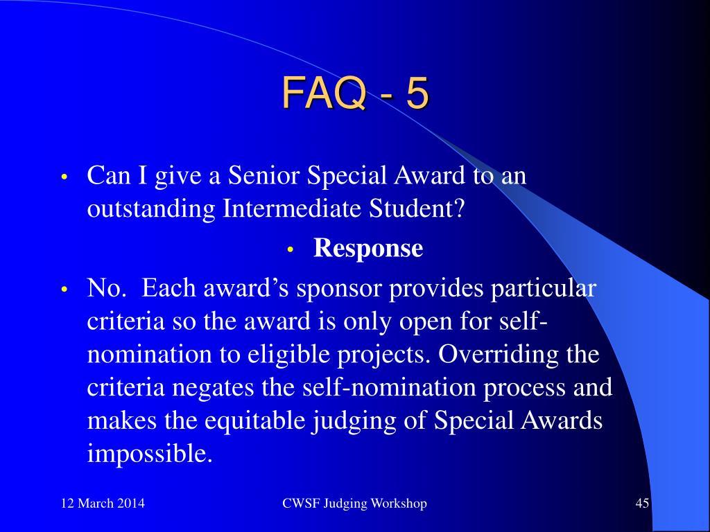 FAQ - 5
