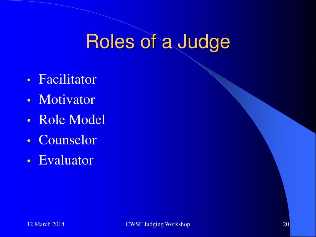 Roles of a Judge