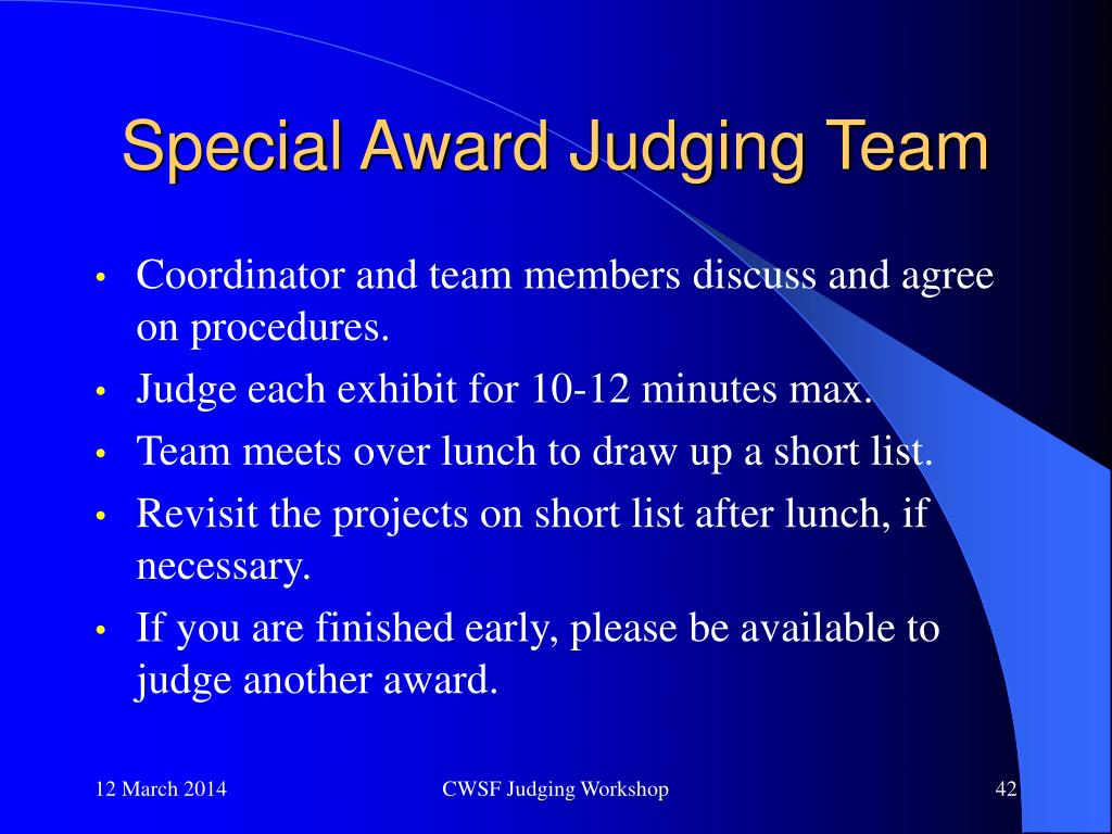Special Award Judging Team