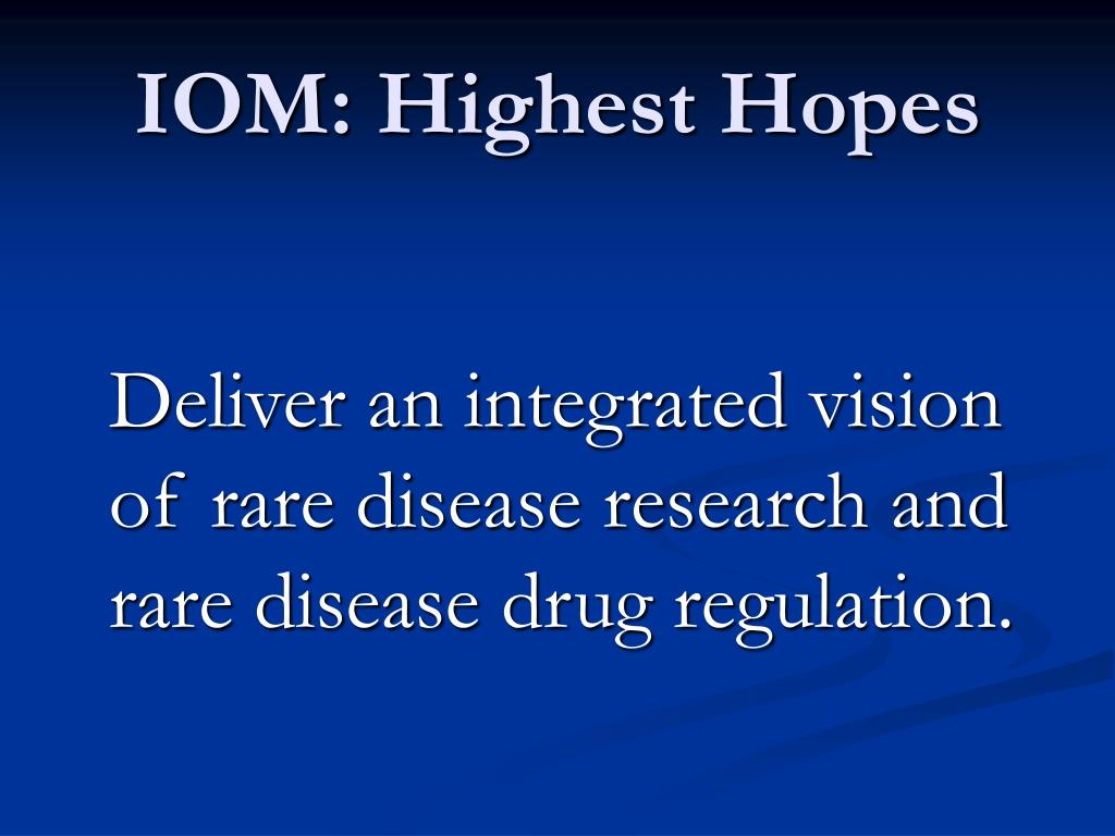 IOM: Highest Hopes