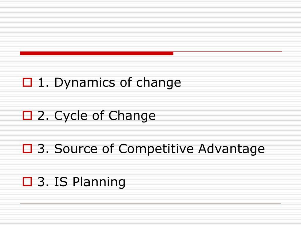 1. Dynamics of change