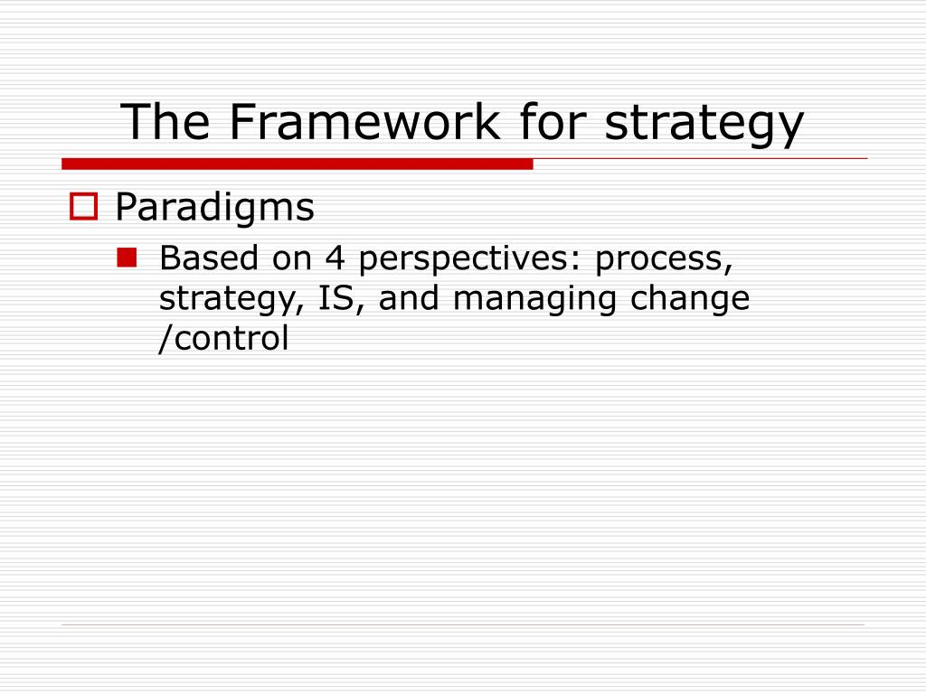 The Framework for strategy
