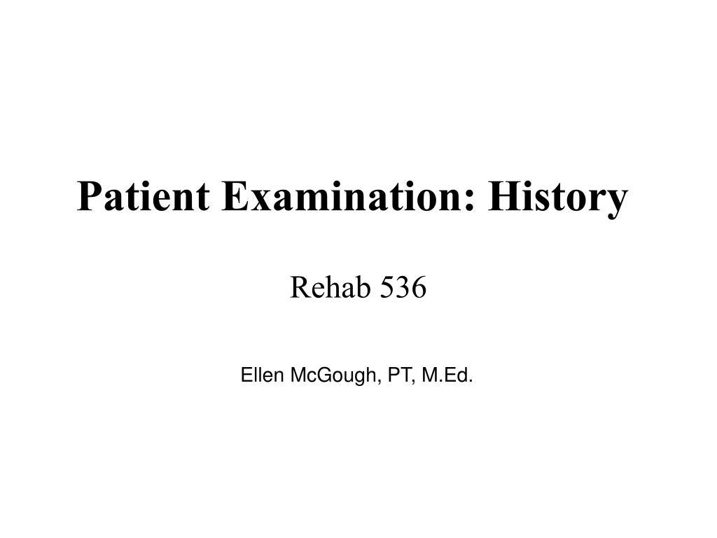 patient examination history l.