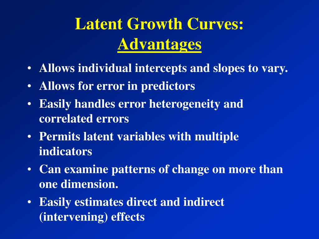 Latent Growth Curves: