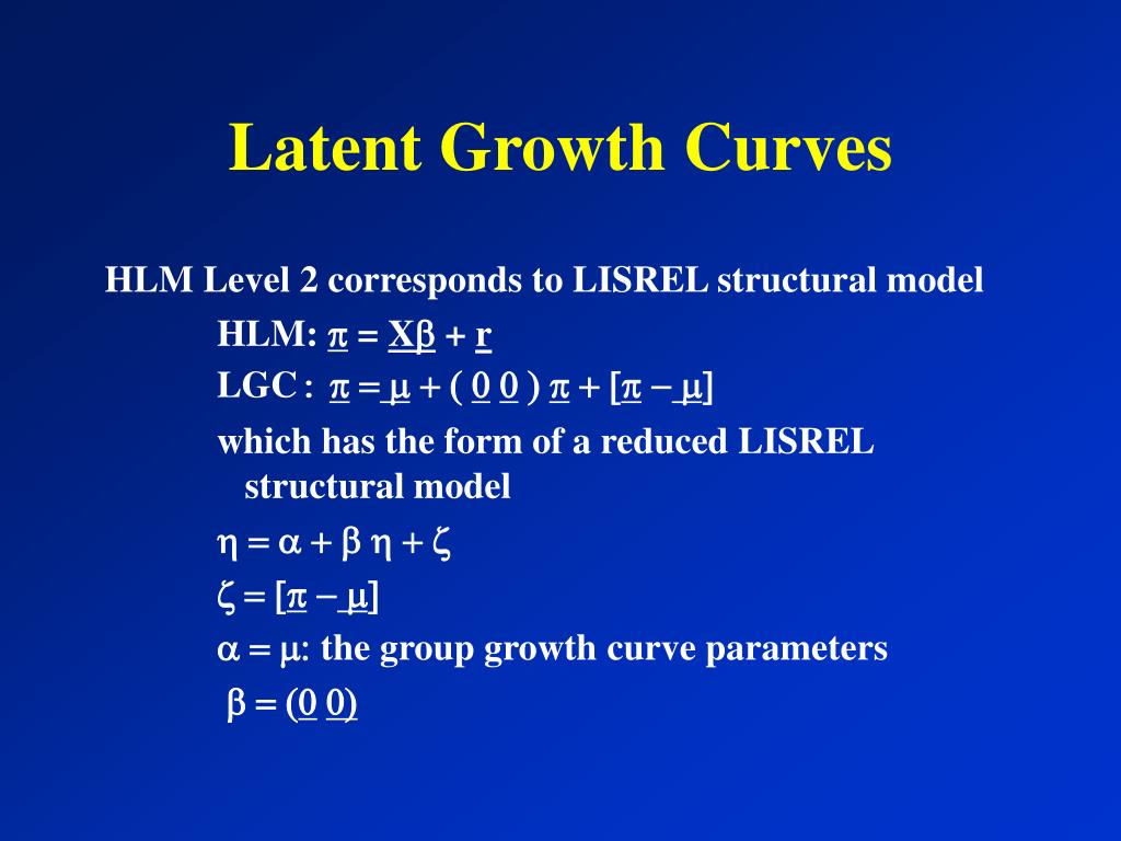 Latent Growth Curves