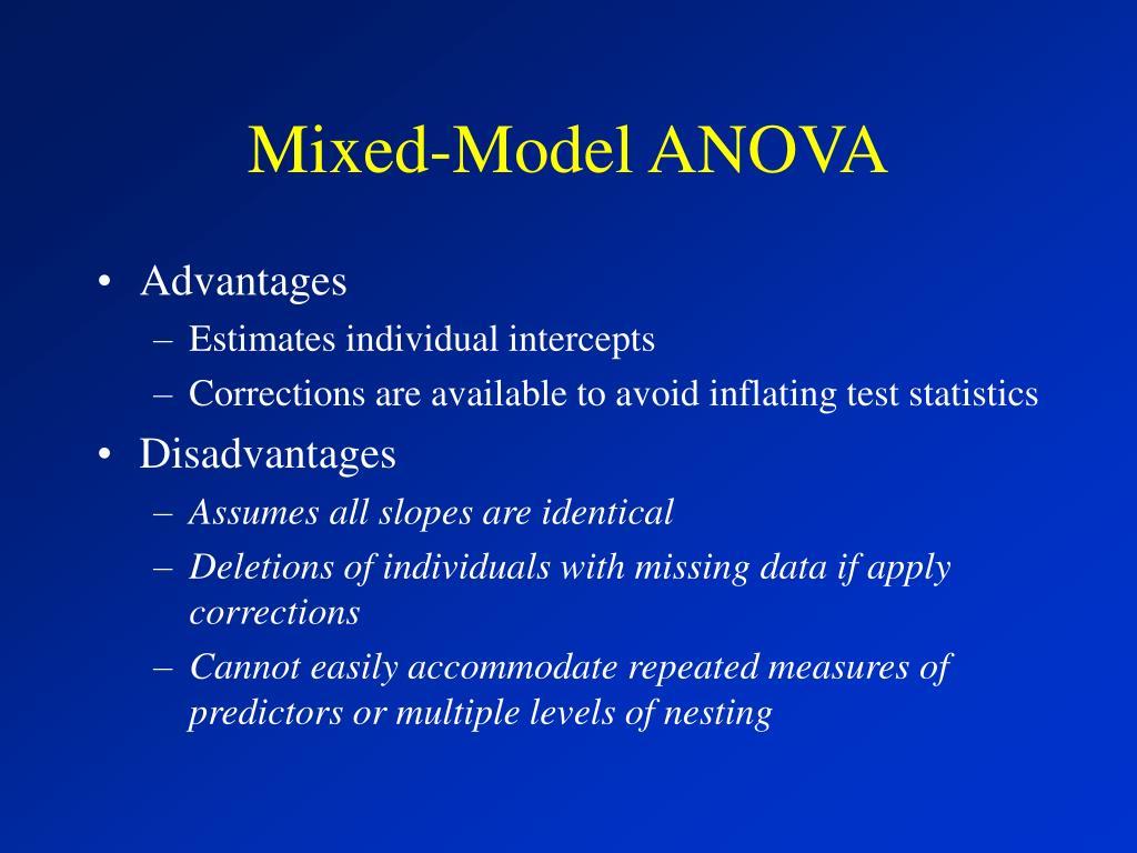 Mixed-Model ANOVA