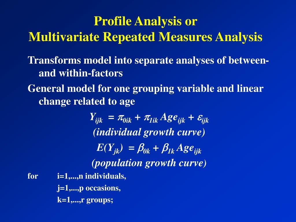Profile Analysis or