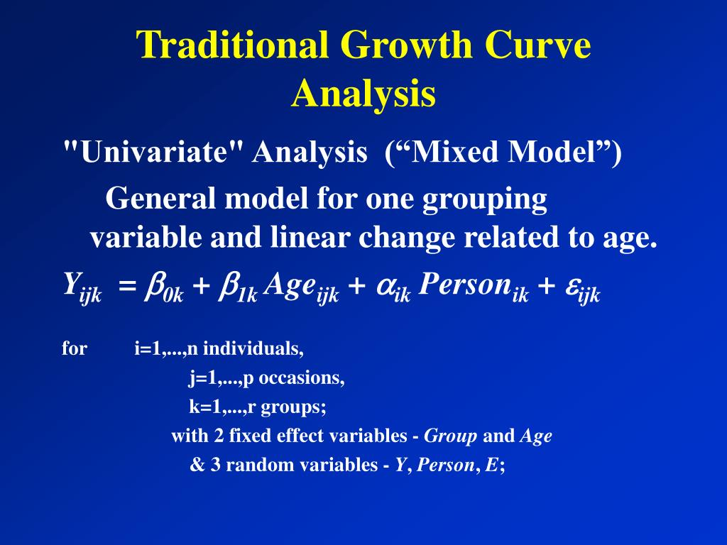 Traditional Growth Curve Analysis