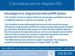 e surveillance and the integrated pas3