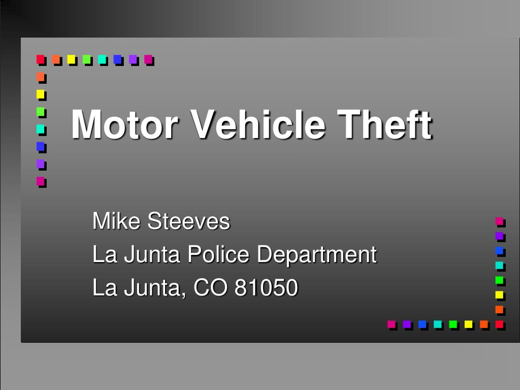 motor vehicle theft l.