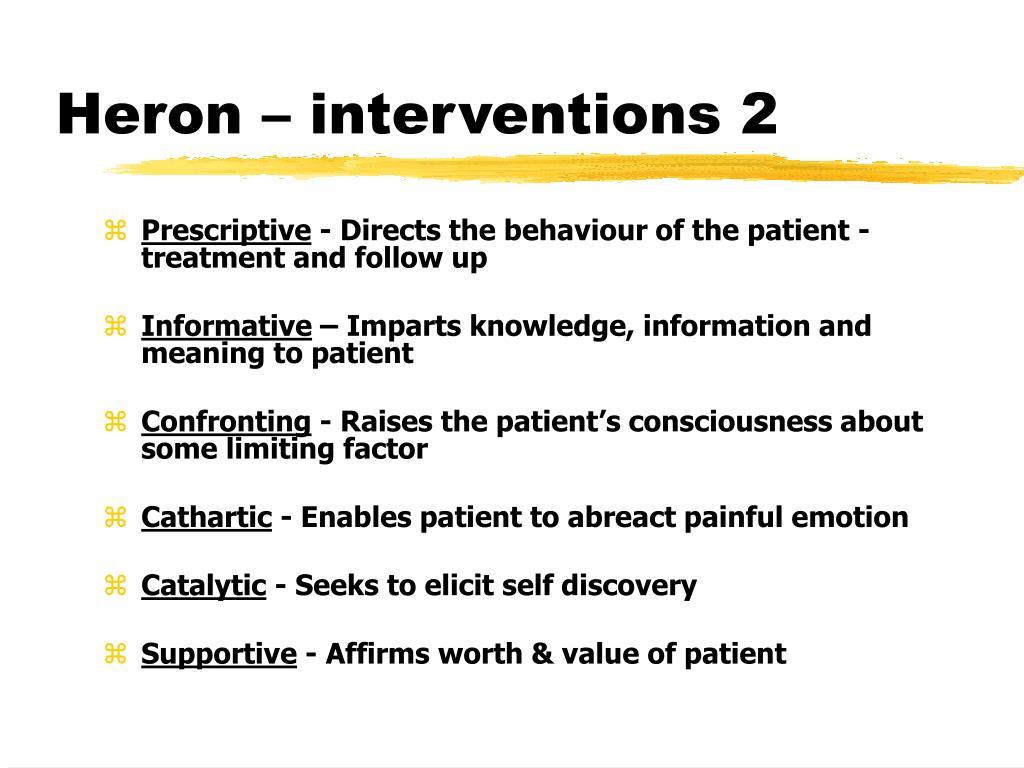 Heron – interventions 2