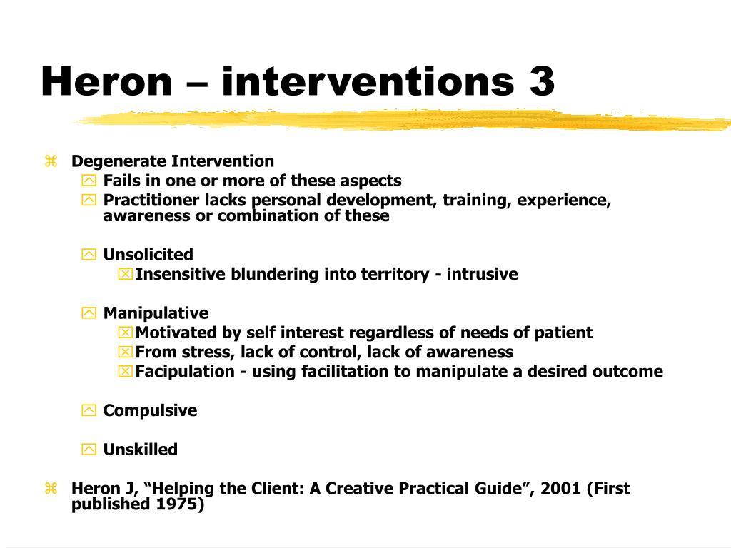 Heron – interventions 3